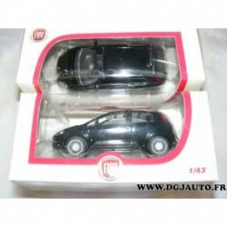 Fiat punto noir voiture miniature 1/43eme dans sa boite d'origine