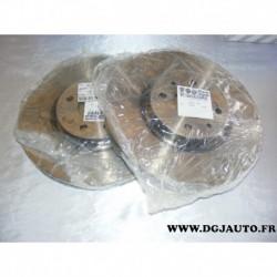 Paire de disque de frein avant ventilé 284mm diametre 46427947 pour fiat coupé multipla punto 2 tipo lancia dedra delta alfa rom