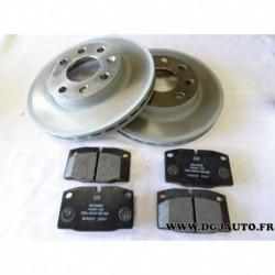 Kit paire disque de frein avant ventilé + jeux 4 plaquettes 93175479 pour opel kadett E partir 1985