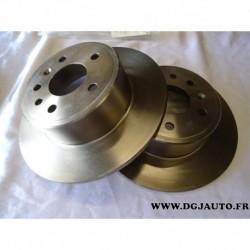 Paire disque de frein arriere plein 286mm diametre 93182293 pour opel vectra B dont break