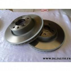 Paire disque de frein ventilé avant 286mm diametre 90487103 pour opel omega B dont break