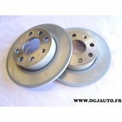 Paire disque de frein avant plein 240mm diametre 9195981 pour opel corsa C 1.0 1.2 essence