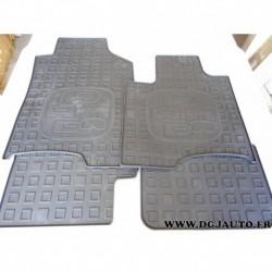 Jeux 4 tapis de sol caoutchouc 50926684 pour fiat panda 3 partir 2012