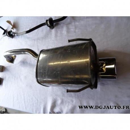 Silencieux echappement sortie chrome 51915462 pour fiat 500 partir 2007 1.2 essence