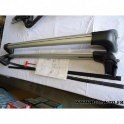 Paire de barre de toit aluminium avec verrouillage 50926337 pour fiat panda 3 partir 2012
