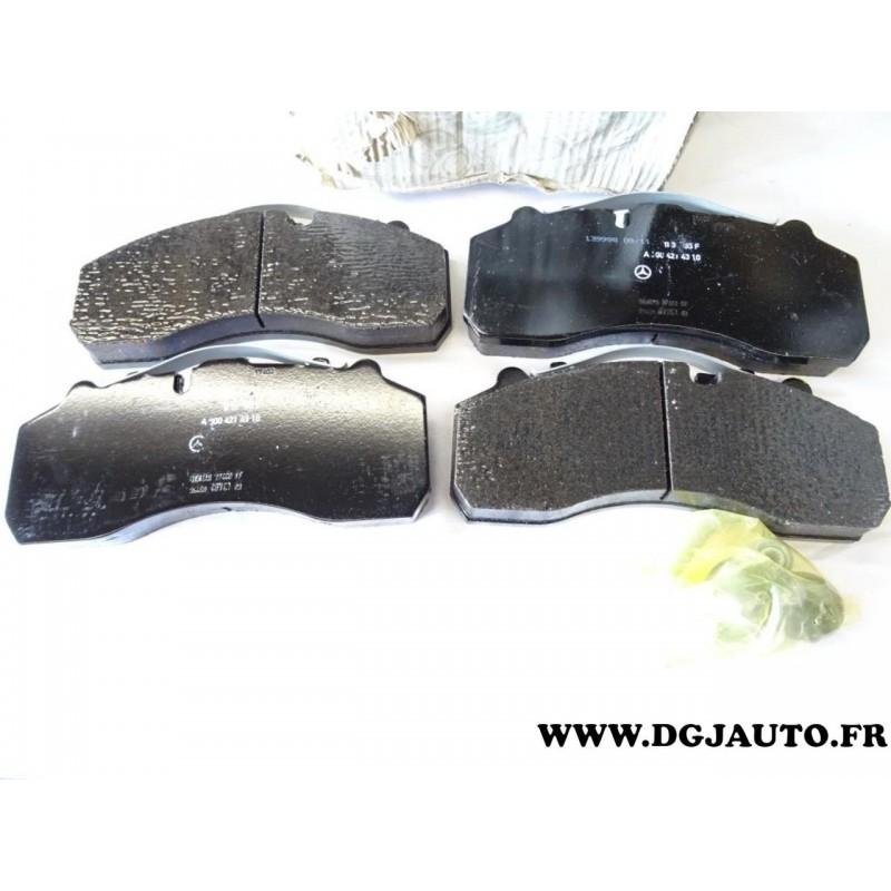 jeux 4 plaquettes de frein 0034203520 pour mercedes actros poids lourd au meilleur prix. Black Bedroom Furniture Sets. Home Design Ideas
