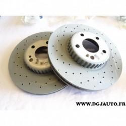 Paire disque de frein avant ventilé percé 0004212112 pour mercedes classe C W205 partir 2013