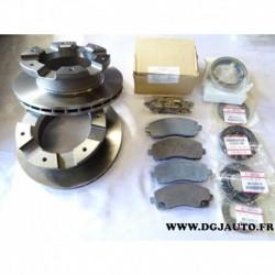 Kit freinage paire disque + 4 plaquettes frein arriere + joints MK529567 MK584497 pour mitsubishi canter FB83 partir 2005