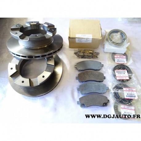 kit freinage paire disque 4 plaquettes frein arriere joints mk529567 mk584497 pour. Black Bedroom Furniture Sets. Home Design Ideas