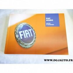 Manuel notice entretien livre documention 60381144 pour fiat scudo 2 partir 2007