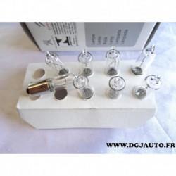 Boite de 8 ampoules H21W 12V 21W 621695 pour citroen C3 picasso C4 dont picasso C5 C8 DS3 DS4 e-mehari peugeot