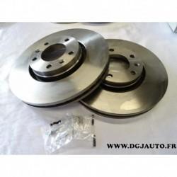 Paire de disque de frein avant diametre 288mm ventilé 1606400880 pour citroen XM serie 2 peugeot 605