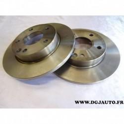 Paire de disque de frein avant diametre 260mm plein 1606318980 pour mercedes classe A W168