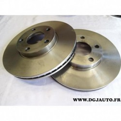 Paire de disque de frein avant diametre 282mm ventilé 1606315780 pour volkswagen passat B5