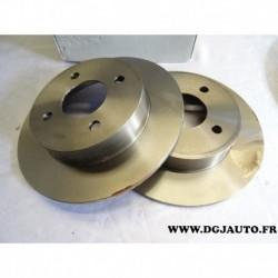 Paire de disque de frein avant diametre 240mm plein E169193 pour nissan micra MK2 K11