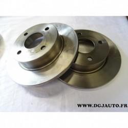 Paire de disque de frein avant diametre 234mm plein 1606317480 pour nissan micra MK2 K11 datsun 100A