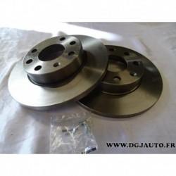 Paire de disque de frein avant diametre 236mm plein E169027 pour opel ascona C astra F corsa A B kadett D E vectra A