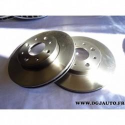 Paire de disque de frein avant diametre 240mm ventilé 1606317080 pour fiat panda 2 500 ford ka 2