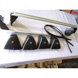 Paire de barre de toit porte bagages capacité 75kg système verrouillage 32026268 pour opel astra J 5 portes (modèle expo)
