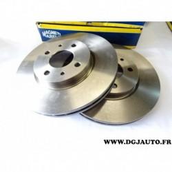 Paire disque de frein avant ventilé 257mm diametre 71772275 pour fiat stilo bravo 2 doblo fiorino idea 500 qubo panda 2 tipo alf