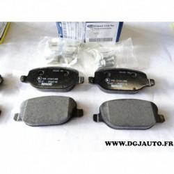 Jeux 4 plaquettes de frein arriere montage lucas 71772223 pour alfa romeo 159 brera spider lancia delta 3 thesis