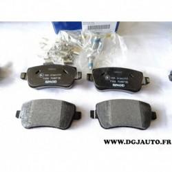 Jeux 4 plaquettes de frein arriere montage lucas 71772219 pour fiat croma 2 partir 2005