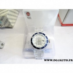 Montre à quartz originale FIAT contour bleue 50906368