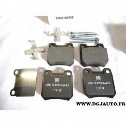 Jeux 4 plaquettes de frein arriere montage ATE 9193476 pour opel omega A senator B vectra B saab 93 95 9-3 9-5