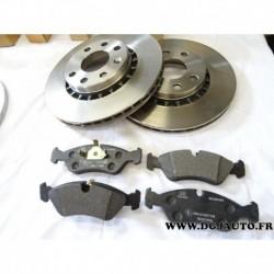 Pack freinage avant paire disque 256mm ventilé 93182285 + jeux 4 plaquettes frein montage ATE 90399495 93175481 pour opel vectra