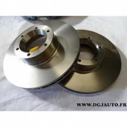 Paire disque de frein avant ventilé 280mm diametre 9160398 pour opel movano A renault master 2