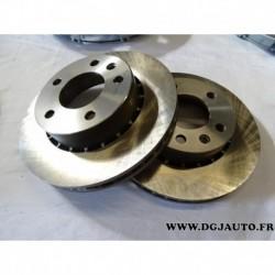 Paire disque de frein avant ventilé 258mm diametre 90271134 pour opel omega A vauxhall carlton