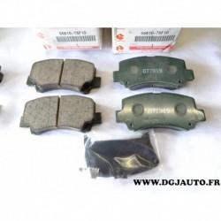 Jeux 4 plaquettes de frein avant montage ATE 55810-75F10 pour suzuki wagon R 1.0 1.2 essence
