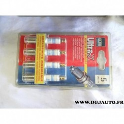 Blister 4 bougies allumage ultra X UXK56 pour citroen BX CX visa LNA C15 peugeot 104 205 305 309 505 renault 14 18 20 21 25 30 e