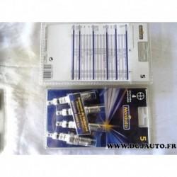 Blister de 4 bougies allumage 4 electrodes 989997 pour citroen BX CX LNA visa ford escort fiesta orion mercedes 190 W201 peugeot
