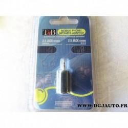 Adaptateur 3.5mm 2.5mm prise jack telephone lecteur MP3 MP4 ADAU034989 TNB