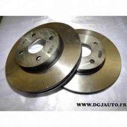 Paire disque de frein avant ventilé 255mm diametre DF4367 pour toyota corolla 120 dont verso 1.4 1.6 (sans emballage)