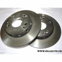 Paire disque de frein avant plein 262mm diametre DF1584 pour mercedes 190 W201 1.8 2.0 2.0D 2.5D