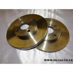 Paire disque de frein avant ventilé 255mm diametre 09.8545.10 pour toyota MR2 yaris dont verso