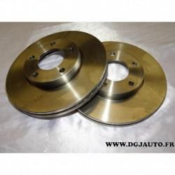 Paire disque de frein avant ventilé 278mm diametre 09.9464.24 pour mazda 3 et 5 BK12 BK14 BL CR19 CW