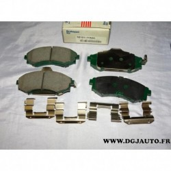 Jeux 4 plaquettes de frein avant montage akebono 5810117A00 pour hyundai coupé elantra lantra matrix sonata kia joice