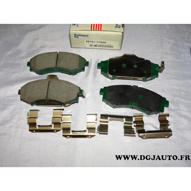 jeux 4 plaquettes de frein avant montage akebono 5810117a00 pour hyundai coup elantra lantra. Black Bedroom Furniture Sets. Home Design Ideas
