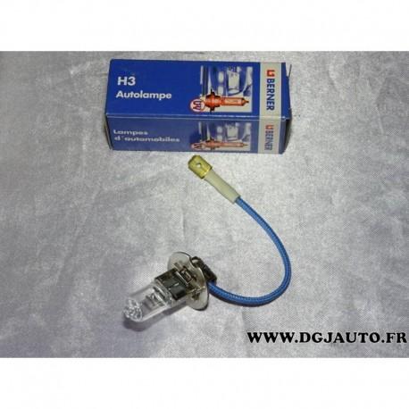 ampoule phare type h3 55w pk22s berner pour renault peugeot citroen mercedes bmw hyundai kia. Black Bedroom Furniture Sets. Home Design Ideas