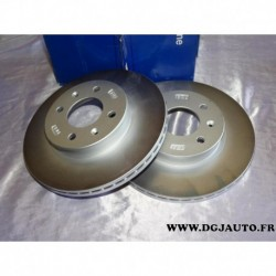 Paire disque de frein avant ventilé 255mm diametre 517121C050 pour hyundai getz BJ TB