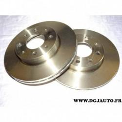 Paire disque de frein avant ventilé 240mm diametre 46419204 pour fiat palio siena
