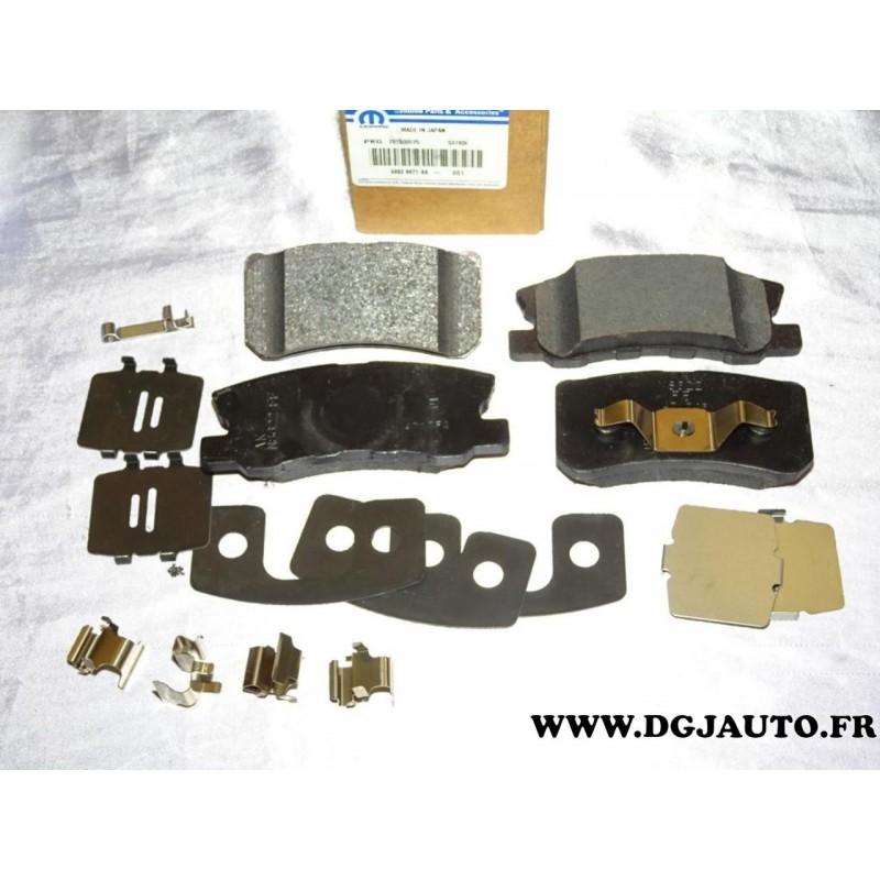 jeux 4 plaquettes de frein arriere 68028671aa pour dodge caliber jeep compass patriot lancia. Black Bedroom Furniture Sets. Home Design Ideas