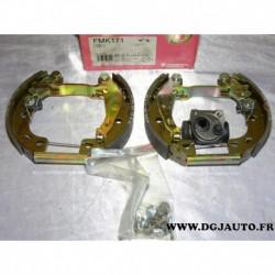 Kit frein arriere prémonté 165x30mm montage bendix FMK171* pour citroen AX (MANQUE 1 cylindre de roue)
