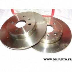 Paire disque de frein arriere plein 264mm diametre 08982610 pour opel astra H combo 3 meriva A