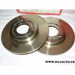 Paire disque de frein avant plein 239mm diametre 08678510 pour seat arosa volkswagen polo 3
