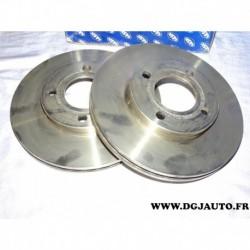 Paire disque de frein avant ventilé 257mm diametre 9004210J pour audi 80 90 100