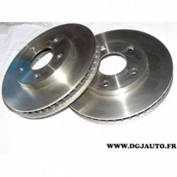 Paire disque de frein ventilé 278mm diametre 9004875J pour opel vauxhall sintra